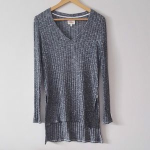 ANTHRO DELETTA Ribbed Lightweater Pullover Tunic
